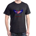 Support Our Troops Heart Flag Dark T-Shirt