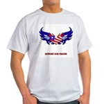 Support Our Troops Heart Flag Light T-Shirt