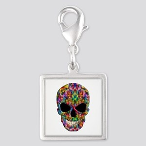 Colorful Fire Skull Charms