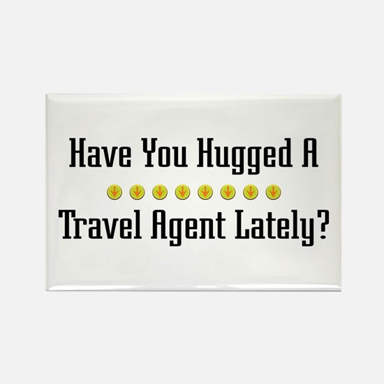 Hugged Travel Agent Rectangle Magnet