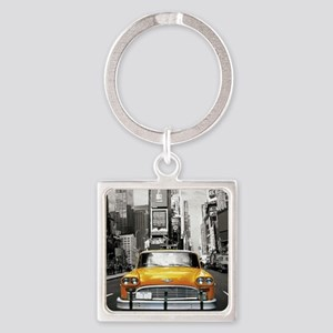 I LOVE NYC - New York Taxi Square Keychain