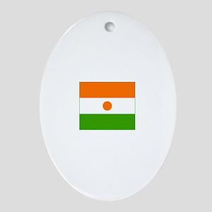niger flag Oval Ornament