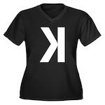 Letter K Plus Size T-Shirt