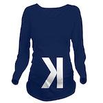 Letter K Long Sleeve Maternity T-Shirt