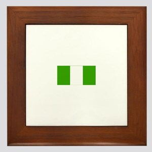nigeria flag Framed Tile