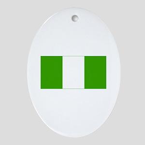 nigeria flag Oval Ornament
