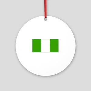 nigeria flag Ornament (Round)
