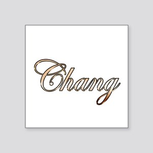 """Gold Chang Square Sticker 3"""" x 3"""""""