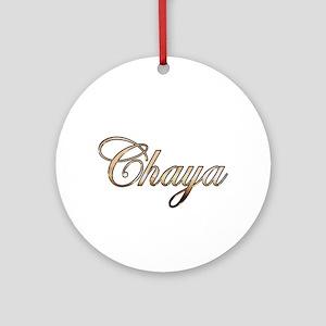 Gold Chaya Round Ornament