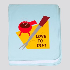 Love To Dip baby blanket