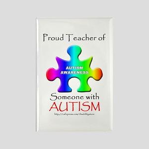 Proud Teacher Rectangle Magnet