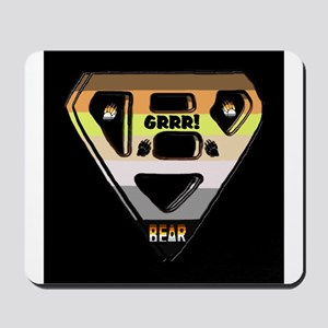 BEAR PRIDE DESIGN-BEAR/BLACK Mousepad
