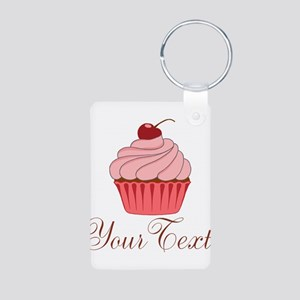 Personalizable Pink Cupcake Keychains