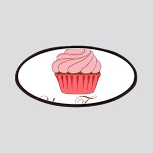Personalizable Pink Cupcake Patches