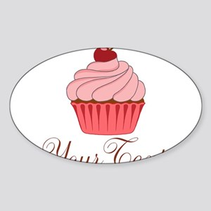 Personalizable Pink Cupcake Sticker