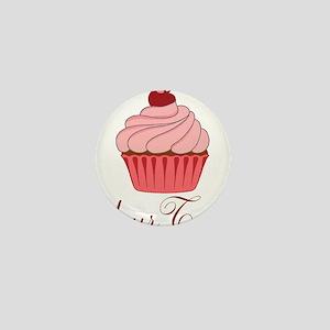 Personalizable Pink Cupcake Mini Button