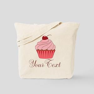 Personalizable Pink Cupcake Tote Bag