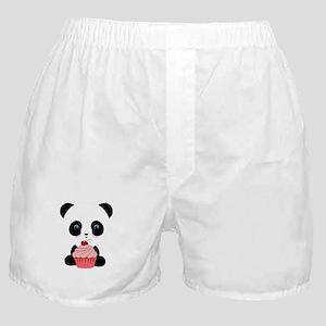 Panda Bear Cupcake Boxer Shorts