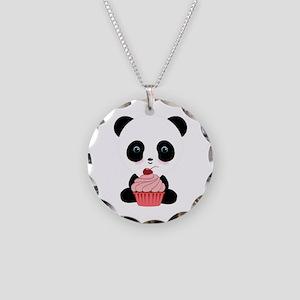 Panda Bear Cupcake Necklace