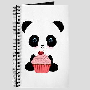 Panda Bear Cupcake Journal