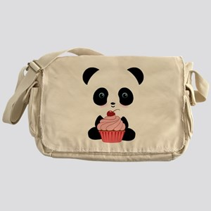 Panda Bear Cupcake Messenger Bag
