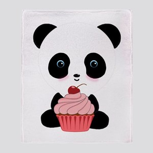 Panda Bear Cupcake Throw Blanket