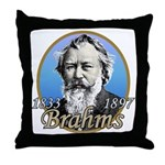 Johannes Brahms Throw Pillow