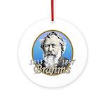 Johannes Brahms Ornament (Round)