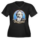 Johannes Brahms Wmns Plus Sz V-Neck Dk Tee
