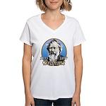 Johannes Brahms Women's V-Neck T-Shirt