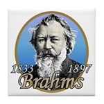 Johannes Brahms Tile Coaster