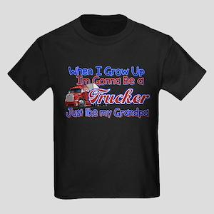 When I Grow Up... Grandpa Kids Dark T-Shirt