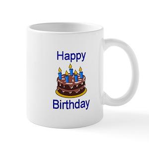 Happy 71st Birthday Cake Mugs
