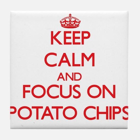 Cute Potato chips Tile Coaster