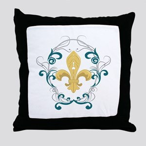 Fleur De Lis Throw Pillow