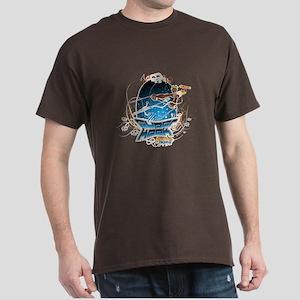 Trick 1 - White Line -The Super Kook Black T-Shirt