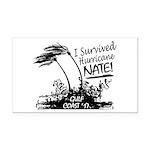 I Survived Hurricane Nate Rectangle Car Magnet