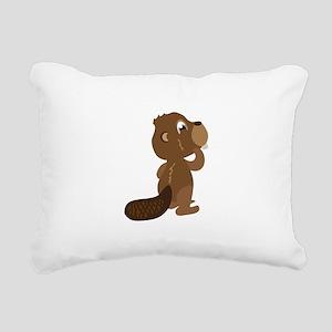 Beaver Animal Rectangular Canvas Pillow