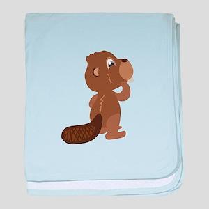 Beaver Animal baby blanket