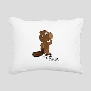 Eager Beaver Rectangular Canvas Pillow