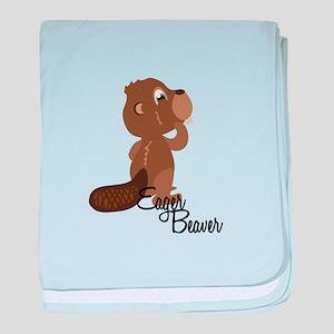 Eager Beaver baby blanket