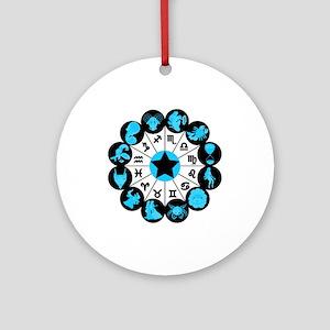 Zodiac Signs Ornament (Round)