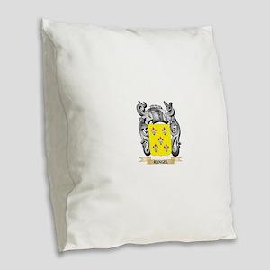 Rangel Coat of Arms - Family C Burlap Throw Pillow