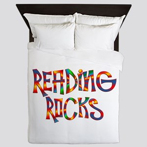 Reading Rocks Queen Duvet
