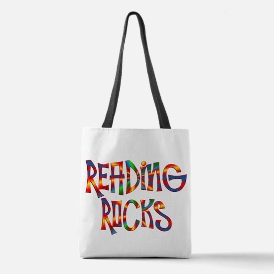 Reading Rocks Polyester Tote Bag