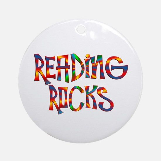 Reading Rocks Round Ornament