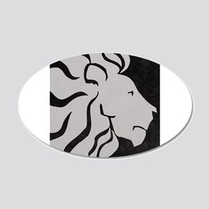 Lion, black and white art Wall Decal
