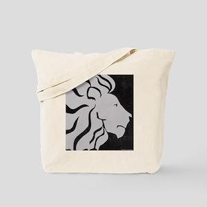 Lion, black and white art Tote Bag