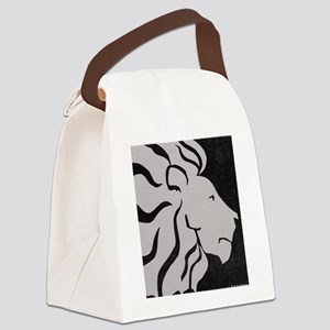 Lion, black and white art Canvas Lunch Bag
