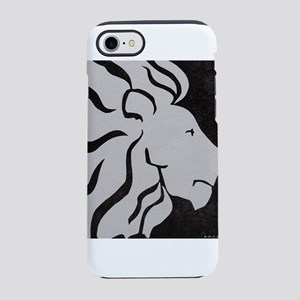 Lion, black and white art iPhone 7 Tough Case